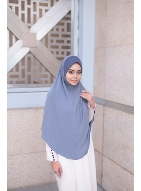 Basic Hijab Umrah Haji Light Grey