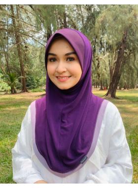 Haseena Basic Hijab - Eggplant Purple