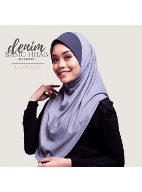 Basic Hijab Denim - Lili Hitam