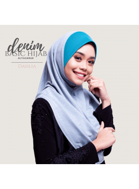 Basic Hijab Denim - Dahlia