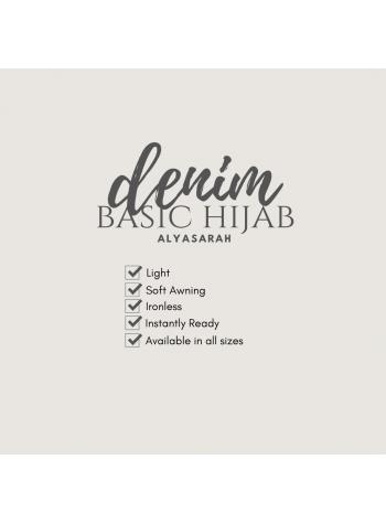 Basic Hijab Denim - Dahlia