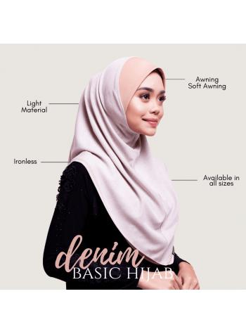 Basic Hijab Denim - Kemboja