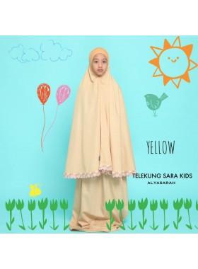 Telekung Kids - Yellow Mustard