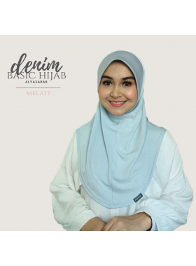 Basic Hijab Denim - Melati