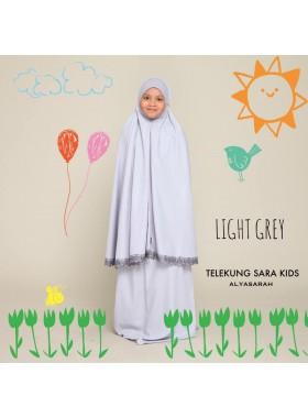 Telekung Kids - Light Grey
