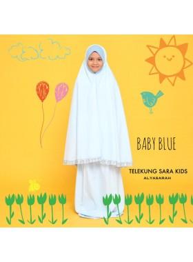 Telekung Kids - Baby blue