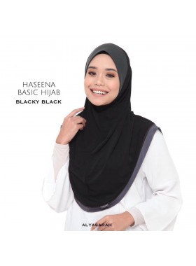 Haseena Basic Hijab - Blacky Black