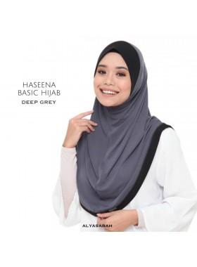 Haseena Basic Hijab - Deep Grey