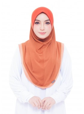 Haseena Basic Hijab - Dark Pumpkin
