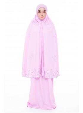 Telekung Alya Sarah Tulip - Pink